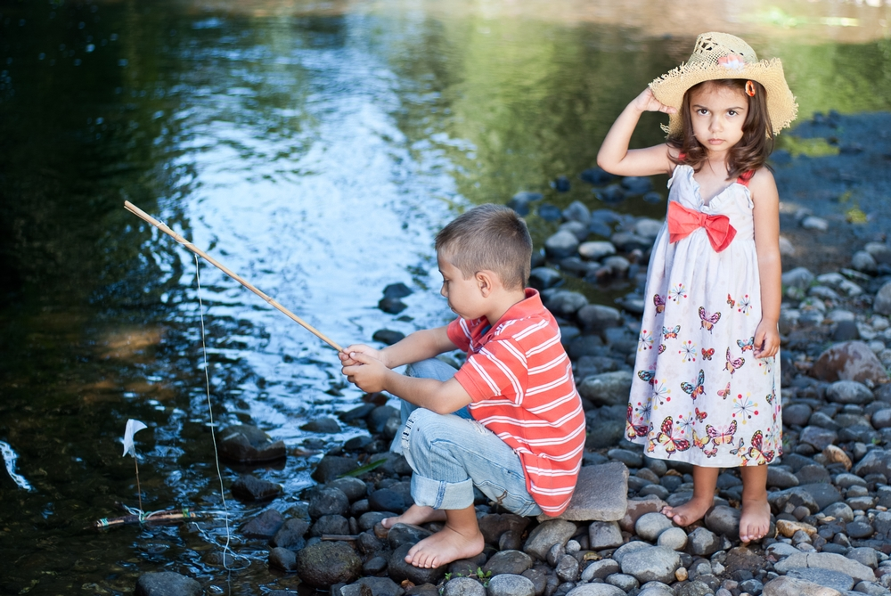 Children Session fishing