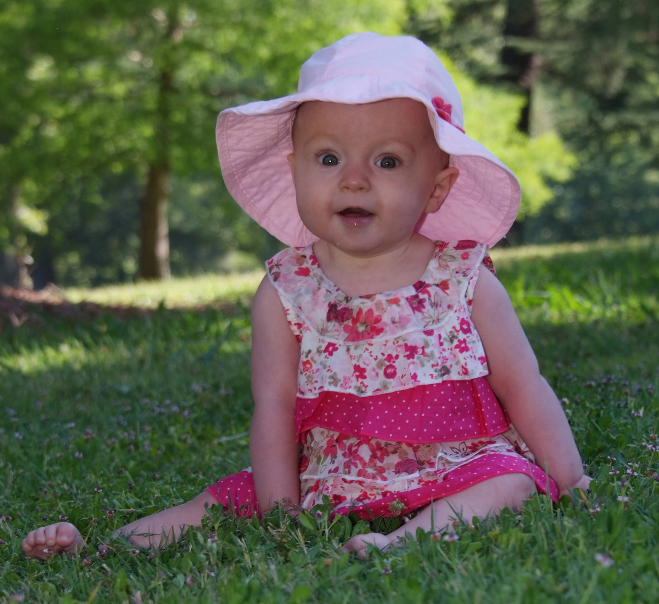 Baby 7 month pink dress