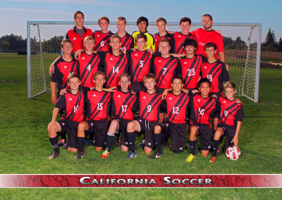 Soccer team group photo